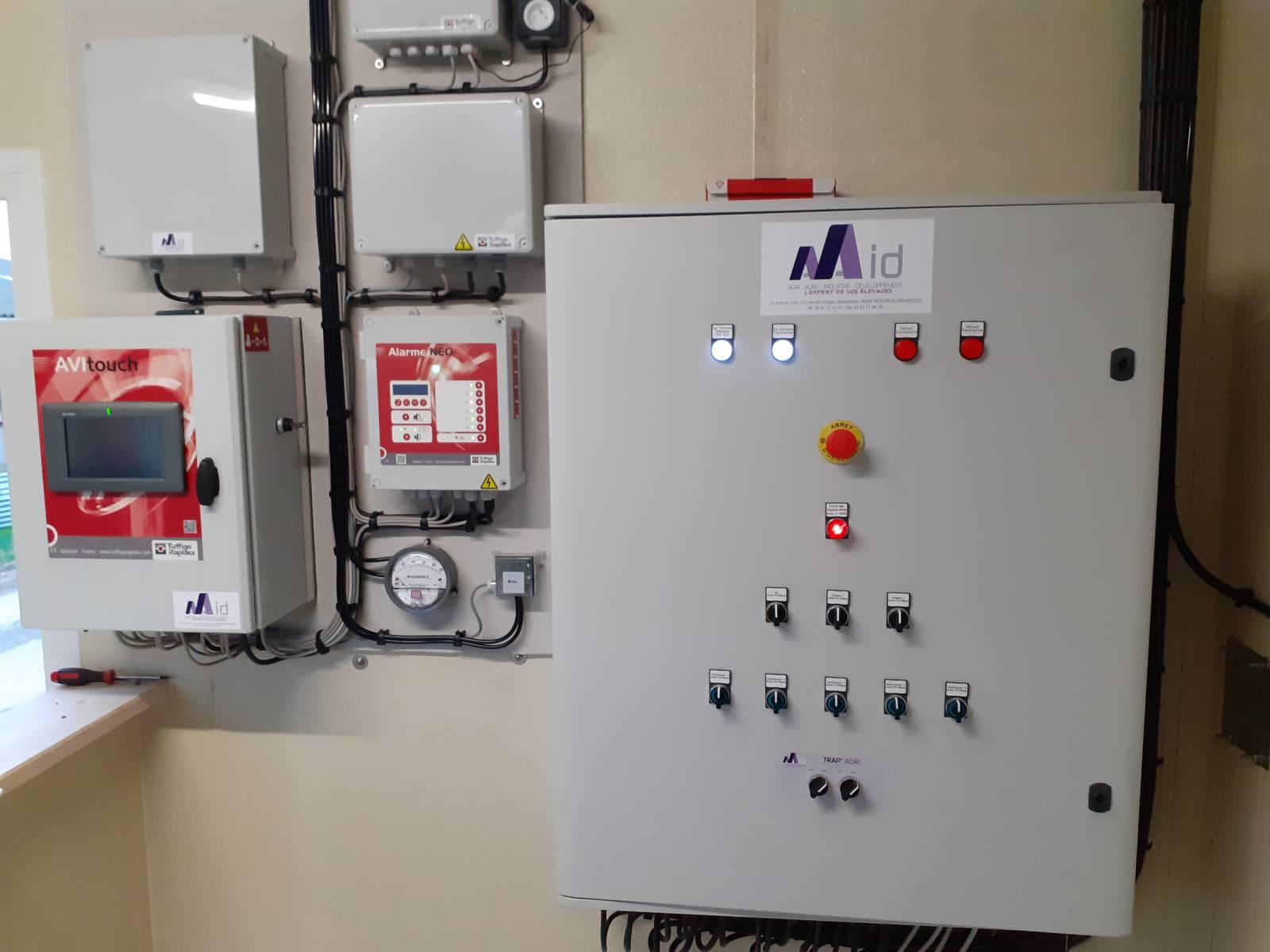 Armoire distribution - Régulation de ventilation - Alarme