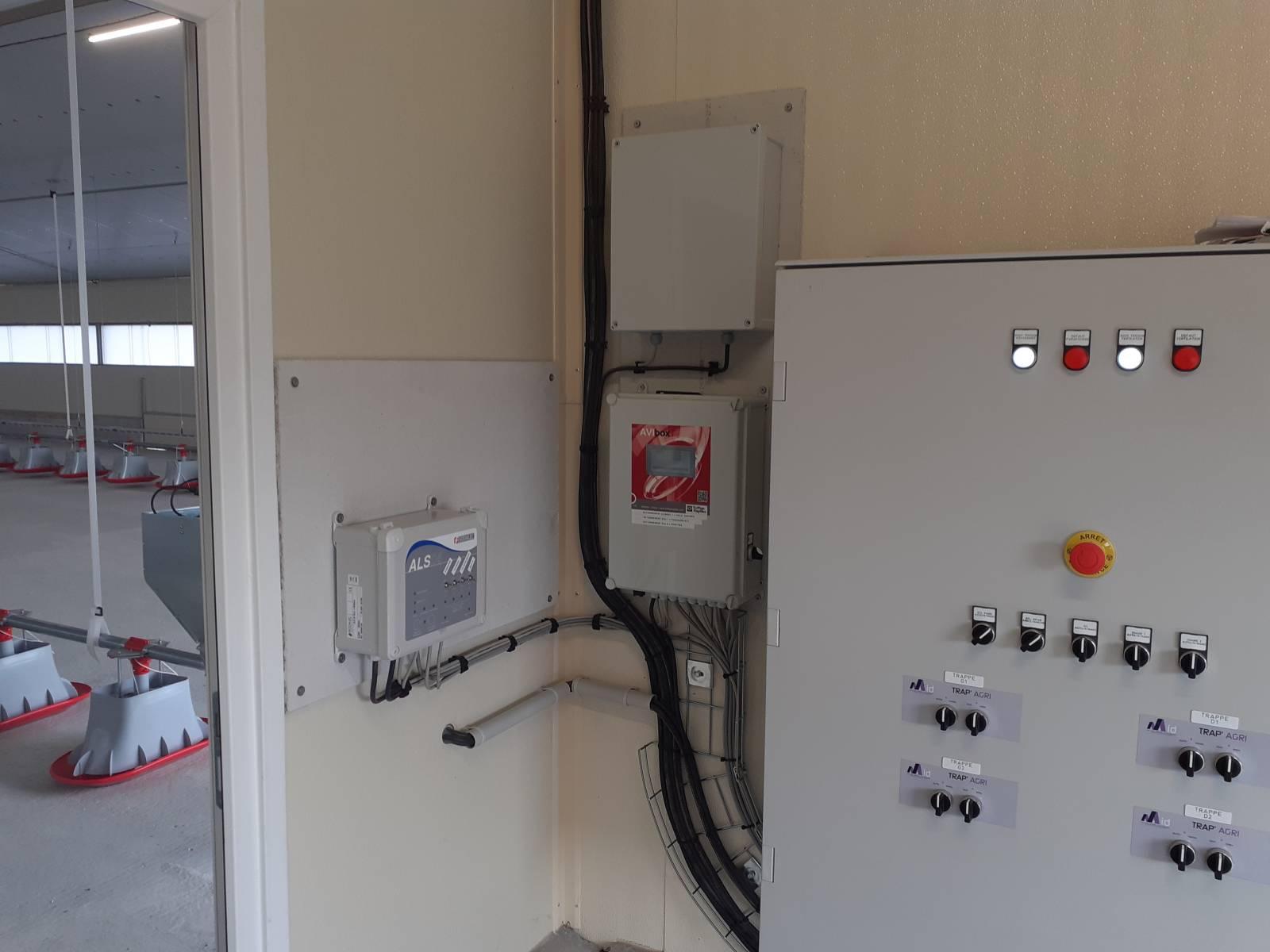Armoire électrique - régulation de ventilation - alarme