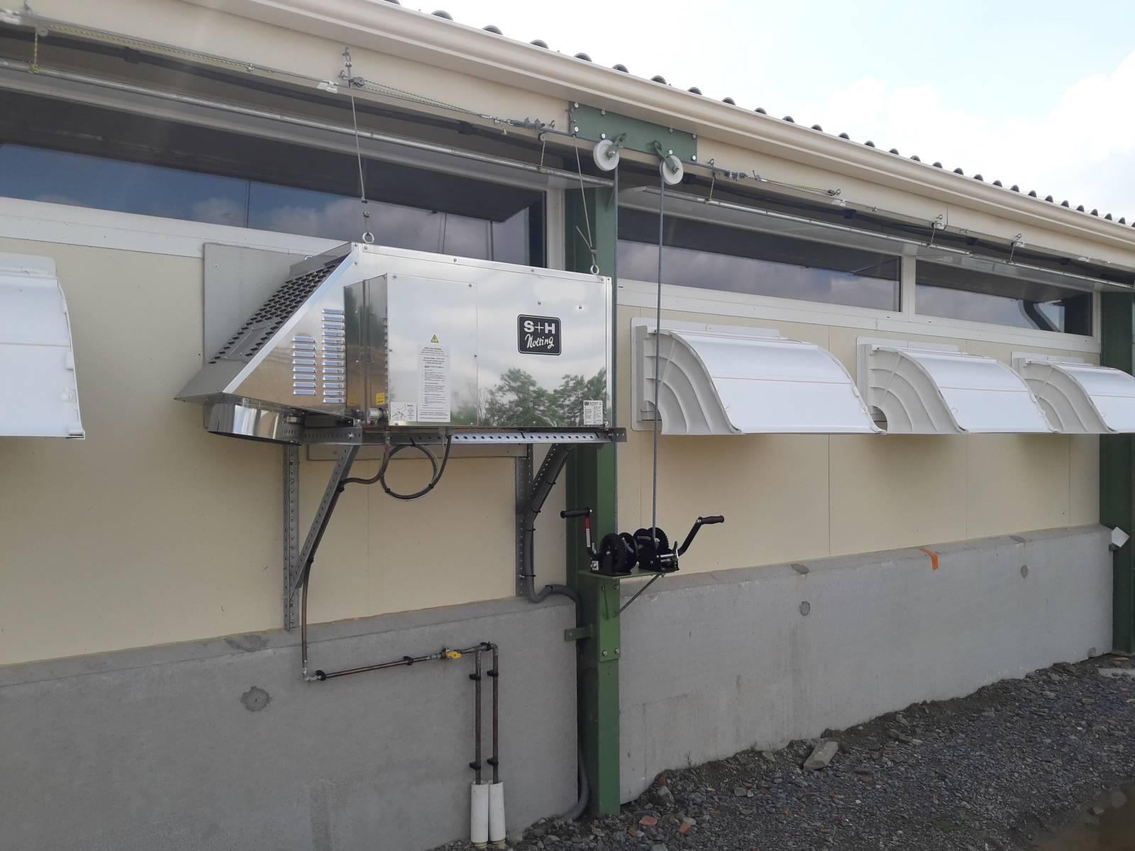 Chauffage canon gaz extérieur