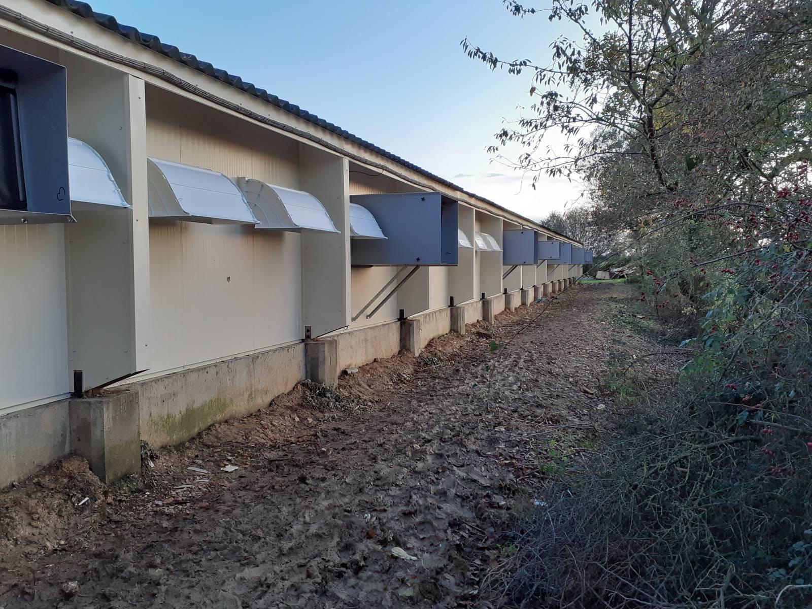 Gaine de ventilation et capot extérieur pour Trappe Kan'Air