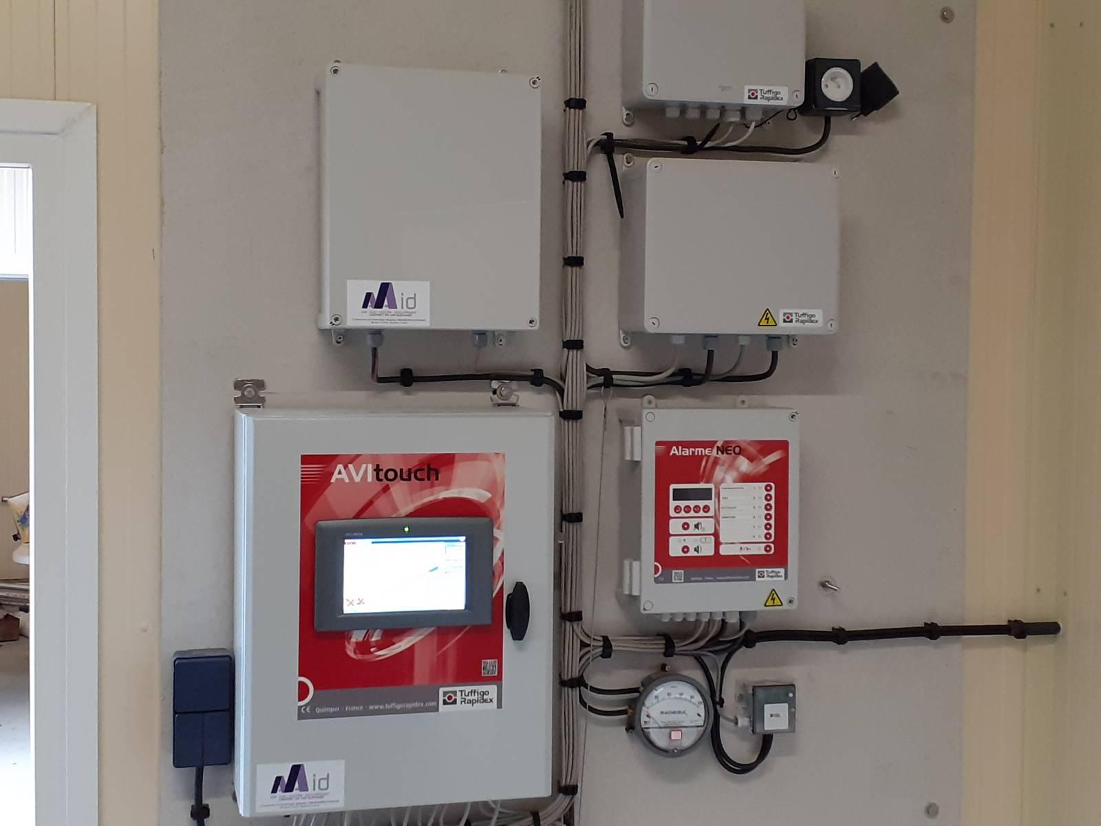 Régulation de ventilation et alarme