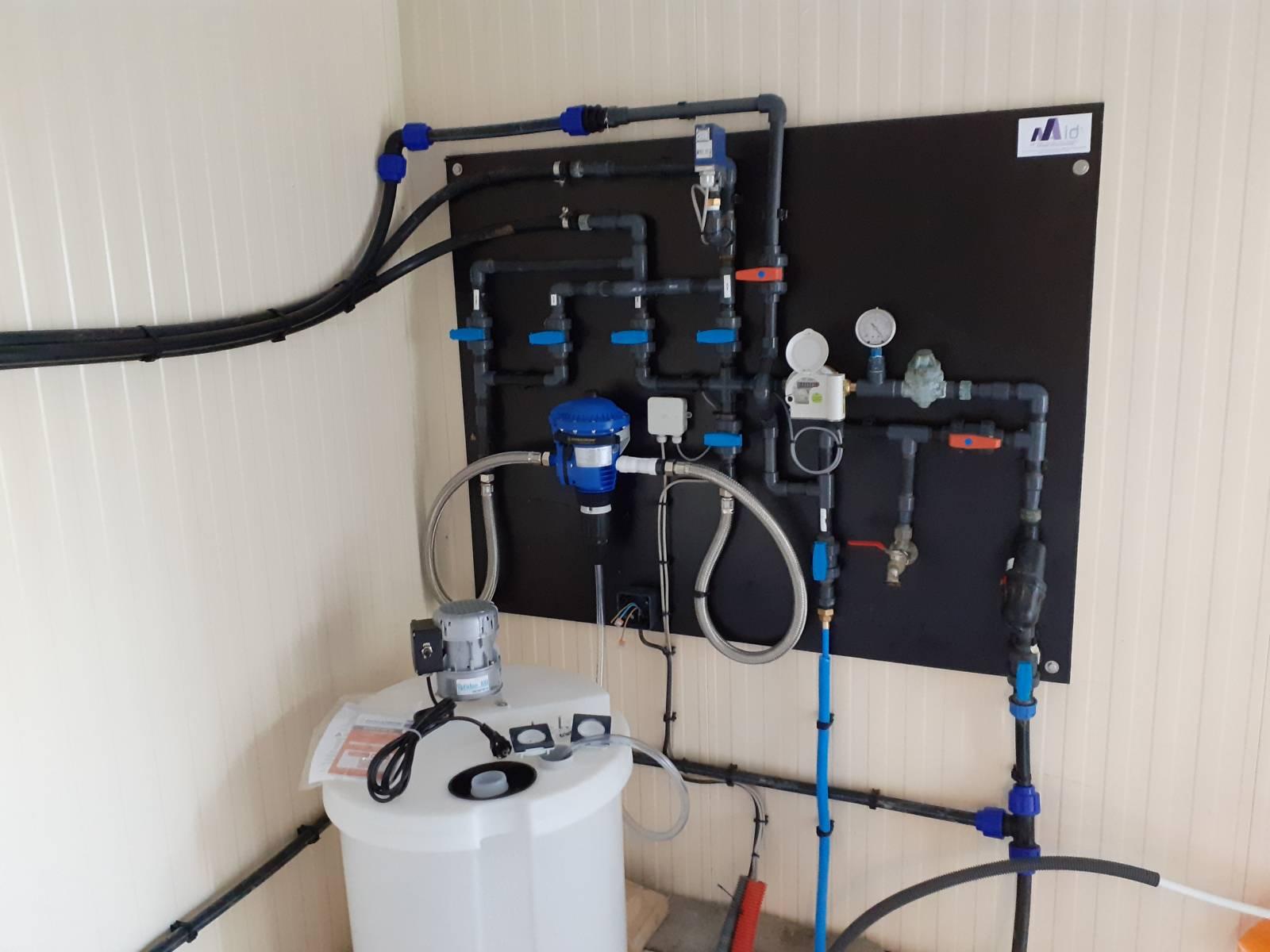 Tableau de distribution d'eau et traitement de l'eau
