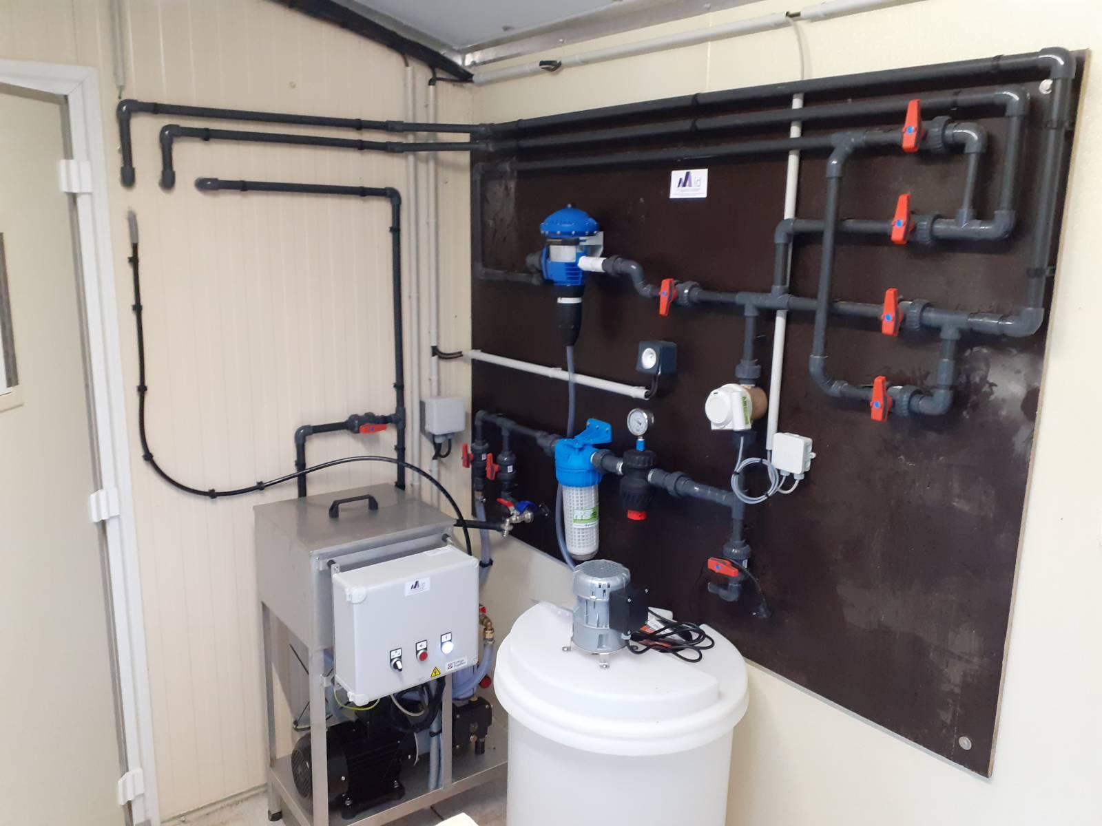 Tableau de distribution et de traitement de l'eau - Groupe de brumisation HP