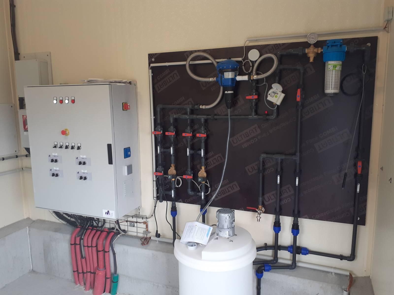 Tableau distribution d'eau et traitement de l'eau