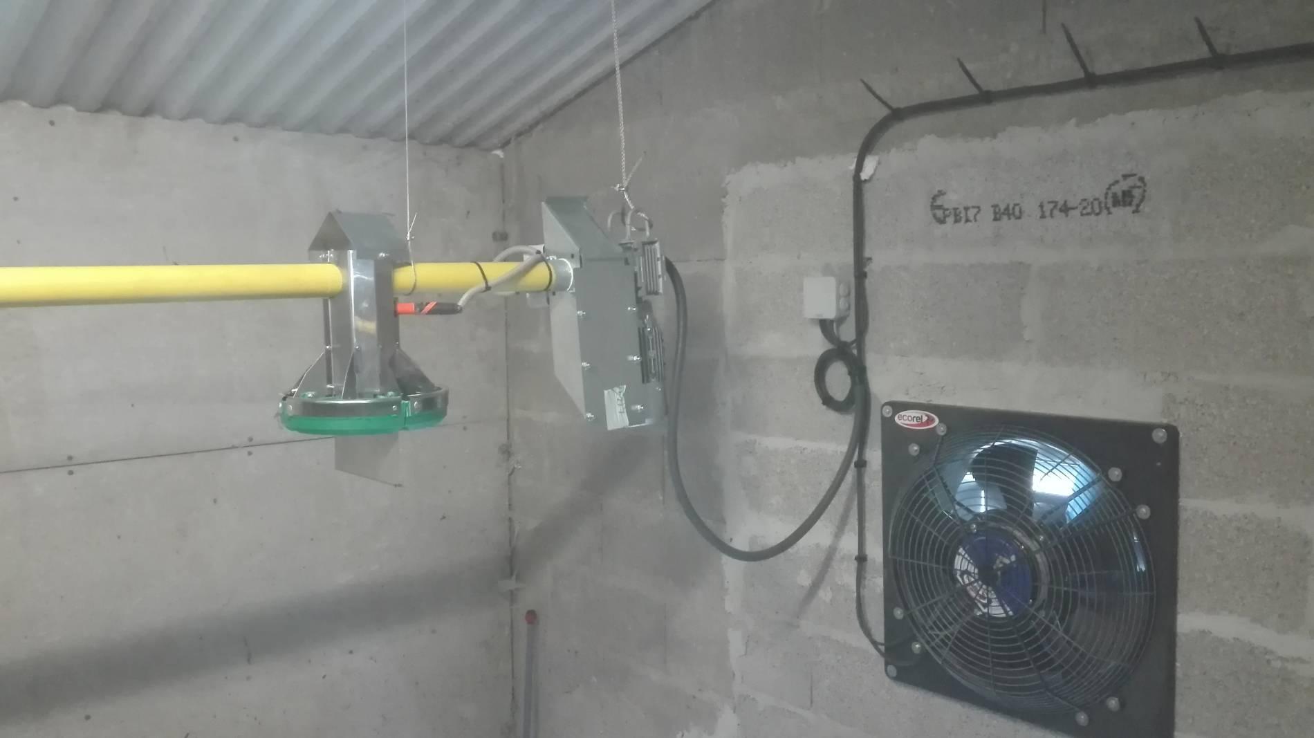 Ventilation avec ventilateur économie d'énergie progressif