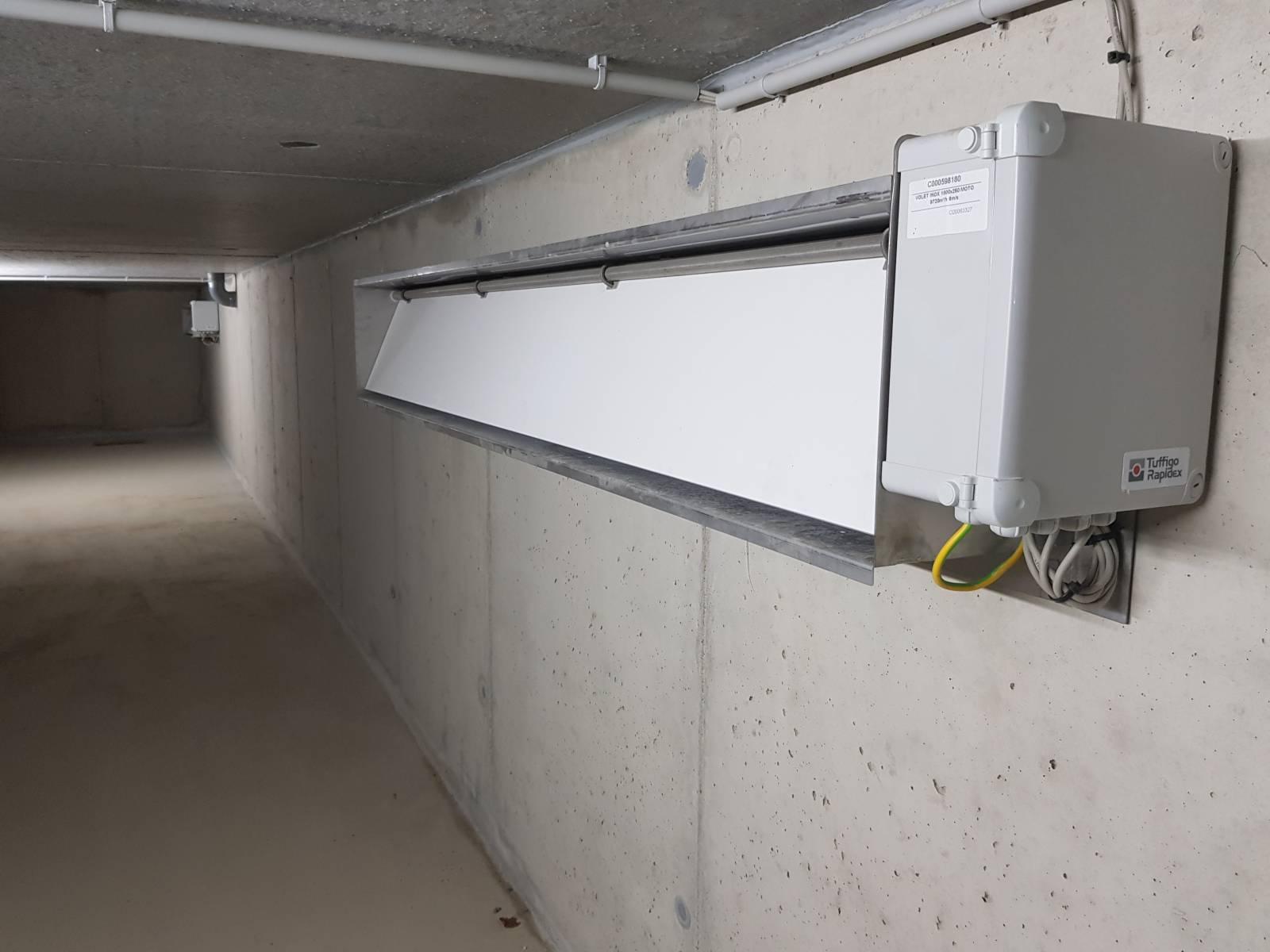 Trappe de gestion d'air automatisée - ventilation - Porc